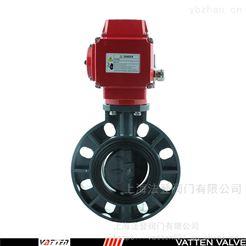 D971电动对夹塑料蝶阀 上海电动PVC蝶阀厂家