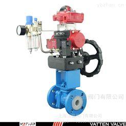 VT2BDF33A上海气动全衬氟球阀,化工排放物专用球阀