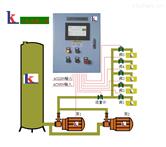 PLC触摸屏双联泵多工位配发料定量控制系统移动小车