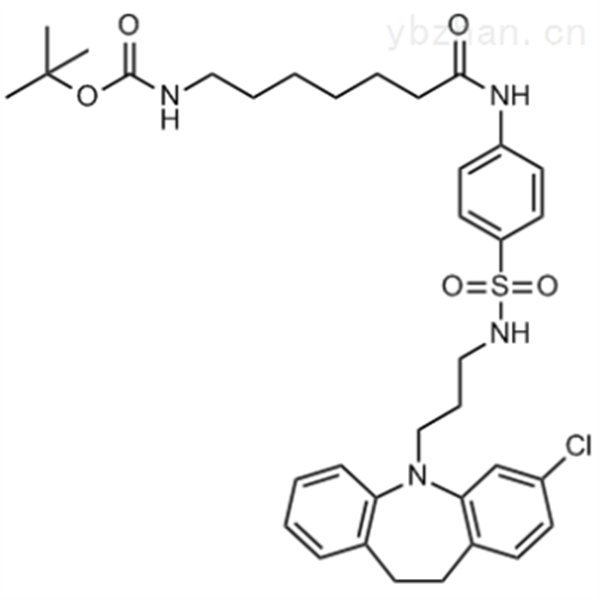 tert-Butyl (7-((4-(N-(3-(3-chloro-10,11-dihydro-5H-dibenzo[b,f]azepin-5-yl)propyl)sulfamoyl)pheny...