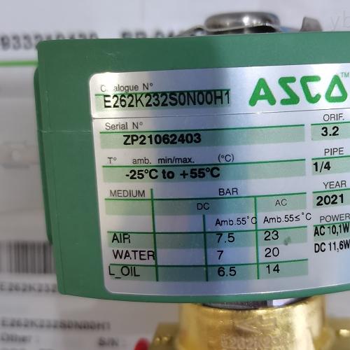 ASCO紧凑型铝制法兰阀E262K232S0N00H1