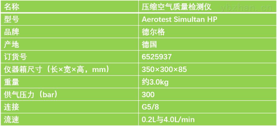 德尔格压缩空气检测仪Aerotest HP技术参数