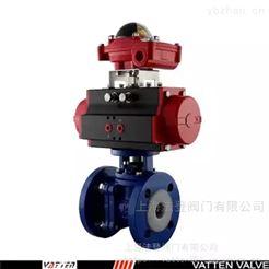 VT2BDF33A衬氟气动阀门 化工厂用耐腐蚀气动球阀