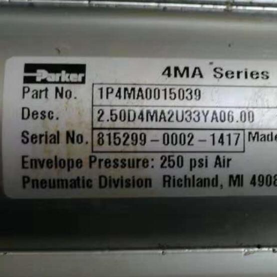 美国PARKER气动圆形缸筒气缸1P4MA0004600