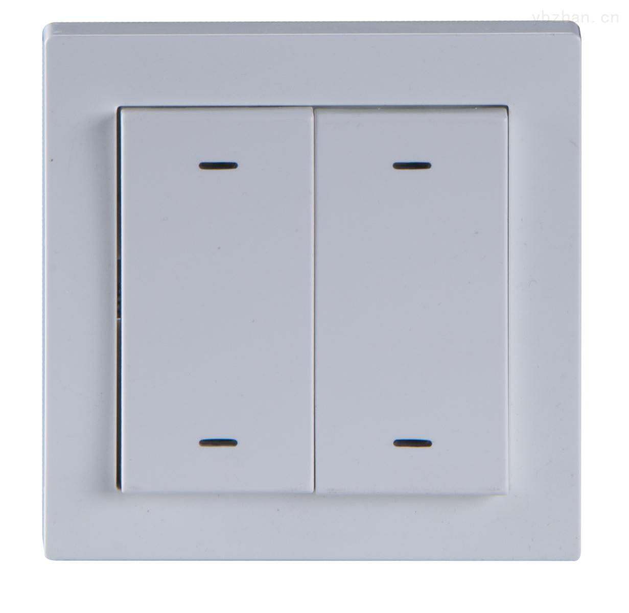 两联四键智能照明面板 开关调光窗帘控制