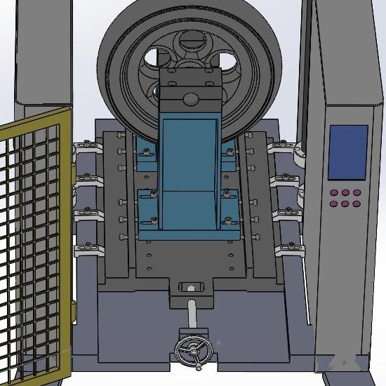 轻合金车轮径向冲击试验机器