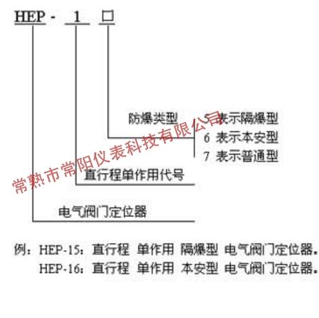 HEP-17室外防水型电气阀门定位器选型表
