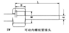 双金属温度计可动内螺纹管接头